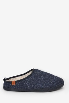 Flecked Padded Mule Slippers
