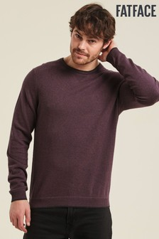 FatFace Purple Cotton Wool Crew Sweater