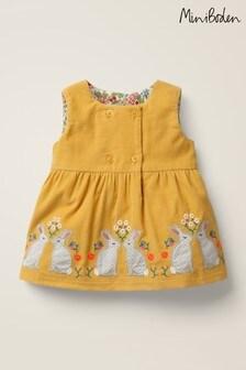 Boden Yellow Animal Appliqué Dress
