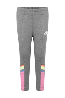 Girls Grey & Pink Heritage Joggers