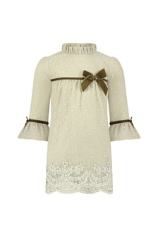 Baby Girls Beige Lace Dress