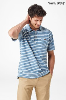 White Stuff Blue Bronsea Stripe Polo