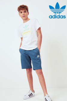 adidas Originals Navy 3 Stripe Shorts
