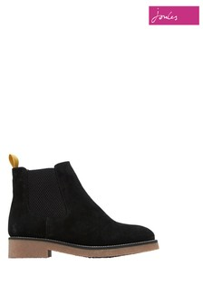 Joules Black Chepstow Casual Suede Chelsea Boots
