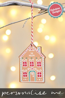Personalised House Hanging Hanging Decoration by Oakdene Designs