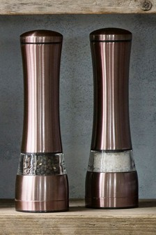 Copper Effect Salt And Pepper Set