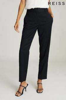 Reiss Black Hayes Slim Fit Tailored Trousers