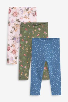 3 Pack Ditsy Floral Leggings (3mths-7yrs)