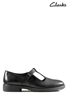 Clarks Black Griffin Town Shoes