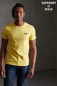 Superdry Yellow Embroidered T-Shirt