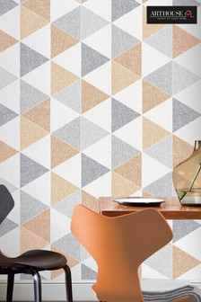 Arthouse Scandi Triangle Geo Wallpaper