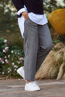 Emma Willis Herringbone Straight Leg Trousers