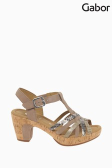 Gabor Mink Cheri Multi Sandals