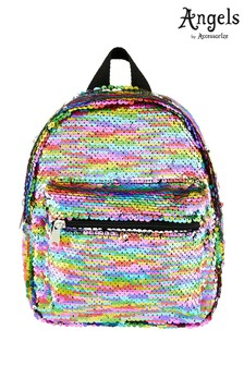 Accessorize Multi Rainbow Flippable Sequin Backpack
