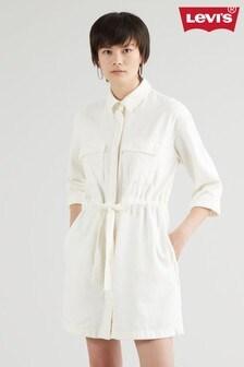 Levi's® White Ainsley Denim Shirt Dress