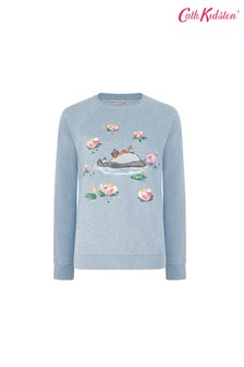 Cath Kidston® Blue Waterlily River Sweatshirt