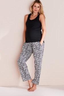 Pyjama mit Zebramuster, Umstandsmode