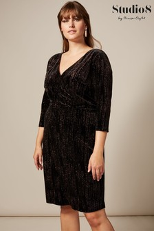 Studio 8 Black Noelle Sparkle Velvet Dress
