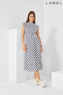 Next/Mix Stripe Jersey Dress