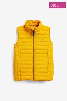 Joules Gold Croft Padded Packable Gilet