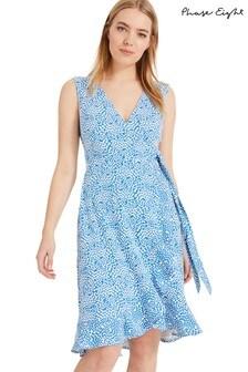 Phase Eight Blue Ebony Printed Wrap Dress