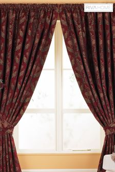 Riva Home Red Shiraz Pencil Pleat Curtains