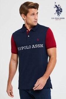 U.S. Polo Assn. Block Jersey Poloshirt