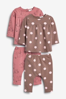 4 Piece Jersey Character/Spot Set (0mths-2yrs)