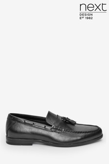 Embossed Tassel Loafers