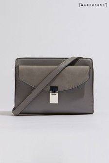 Warehouse Grey Clasp Pocket Crossbody Bag