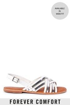 Forever Comfort® Woven Slingback Sandals
