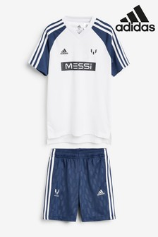 adidas White Messi Set
