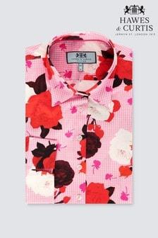 قميص كم ثلثين Rose كاروه وردي من Hawes & Curtis