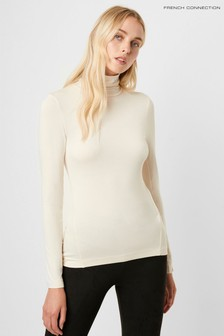 French Connection Venitia Jersey Split Cuff Top