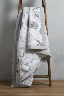 Cotton Sateen Hedgerow Quilted Throw