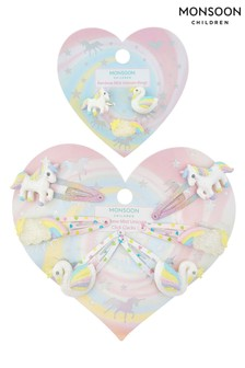 Monsoon Rainbow Mist Hair Clip & Ring Set