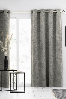 Textured Chenille Eyelet Lined Curtains