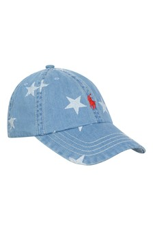 Boys Blue Denim Star Cap