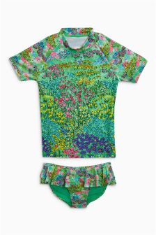 Floral Sunsafe Two Piece Set (3-16yrs)