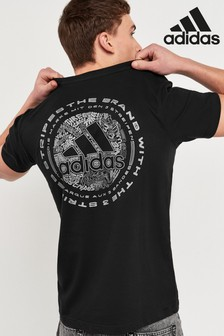 adidas Black Doodle Emblem T-Shirt