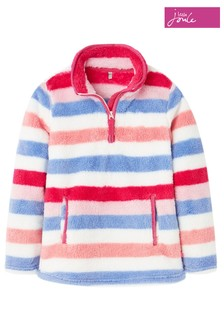 Joules Pink Ellie Half Zip Fleece