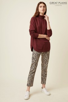 Great Plains Leopard Pearl Denim Trousers