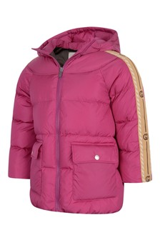 Girls Fuchsia Down Padded Jacket