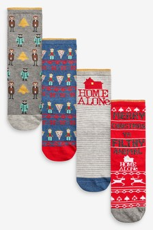 Home Alone Ankle Socks Four Pack
