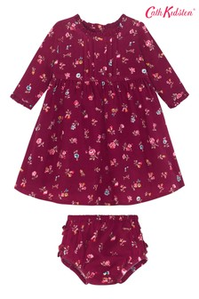 Cath Kidston® Purple Baby Frill Pintuck Somerset Spray Dress
