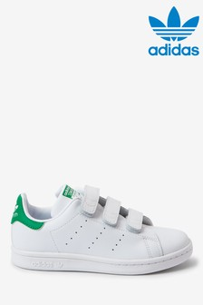 adidas Originals White/Green Stan Smith Junior Trainers