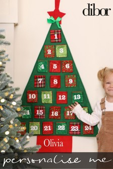 Personalised Christmas Tree Advent Calendar by Dibor