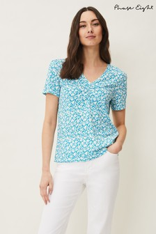 Phase Eight Blue Layla Ditsy Print Top