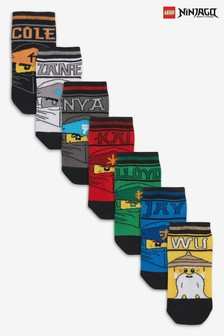 7 Pack Lego Ninjago Trainer Socks (Older)