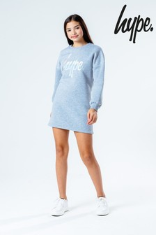Hype. Grey Puff Sleeve Sweat Dress